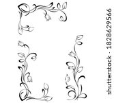 decorative frame with stylized... | Shutterstock .eps vector #1828629566