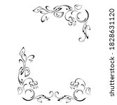 decorative frame with stylized... | Shutterstock .eps vector #1828631120
