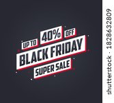 black friday sale banner or... | Shutterstock .eps vector #1828632809