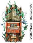A Church Organ With Flowers ...