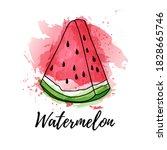 illustration of slice... | Shutterstock .eps vector #1828665746