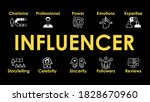 influencer illustration with... | Shutterstock .eps vector #1828670960