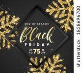 sale black friday banner 75... | Shutterstock .eps vector #1828696700