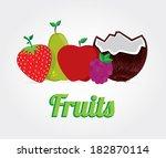 fruits design over gray...