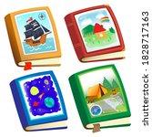 color image of children's books ...   Shutterstock .eps vector #1828717163