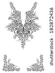 border ornament  | Shutterstock .eps vector #182872436