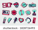 90s style vector icons. funky... | Shutterstock .eps vector #1828726493