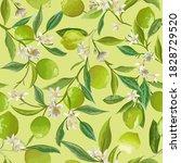 lime floral background  vector... | Shutterstock .eps vector #1828729520