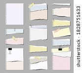 set of torn papers  isolated. | Shutterstock .eps vector #1828751633