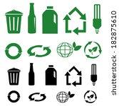 vector recycle signs | Shutterstock .eps vector #182875610