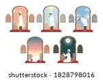 islam  prayer  celebration ... | Shutterstock .eps vector #1828798016