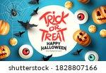 spooky and fun happy halloween... | Shutterstock .eps vector #1828807166