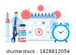 time to vaccinate concept.... | Shutterstock .eps vector #1828812056