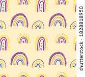 rainbow clipart. baby cute...   Shutterstock . vector #1828818950