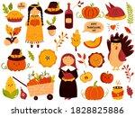 Big Set Of Thanksgiving Symbols ...