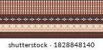 seamless vector border in...   Shutterstock .eps vector #1828848140