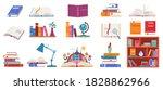 books vector illustration set.... | Shutterstock .eps vector #1828862966