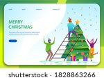 merry christmas and happy new...   Shutterstock .eps vector #1828863266