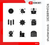 set of 9 commercial solid...