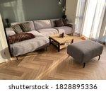 Herringbone Pvc Flooring With...