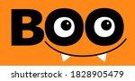 happy halloween. hanging word... | Shutterstock .eps vector #1828905479