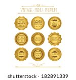 set luxury labels and ribbons | Shutterstock .eps vector #182891339