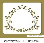 stencil with a round frame of... | Shutterstock .eps vector #1828915433
