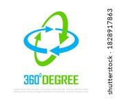 360 degree vector logo isolated ... | Shutterstock .eps vector #1828917863