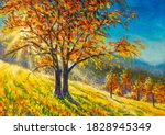Autumn Painting. Fall Artwork....