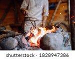 Fire Crackling In Blacksmith...