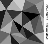 grey triangle background or... | Shutterstock . vector #182894930