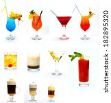 various type of alcoholic... | Shutterstock . vector #182895320