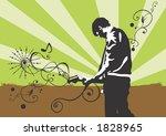 illustration of a guitarist | Shutterstock .eps vector #1828965