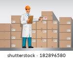 businessman in warehouse   Shutterstock .eps vector #182896580