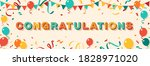 congratulations greeting card... | Shutterstock .eps vector #1828971020