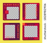 a collection of flash sale... | Shutterstock .eps vector #1828982906