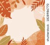 colorful autumn leaves frame... | Shutterstock .eps vector #1828986770