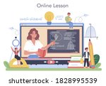 math school online service or... | Shutterstock .eps vector #1828995539