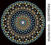 dot mandala for acrylic...   Shutterstock .eps vector #1828998566
