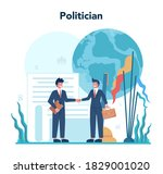 politician concept. idea of... | Shutterstock .eps vector #1829001020