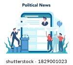 politician online service or... | Shutterstock .eps vector #1829001023