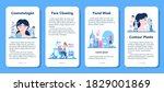 cosmetologist concept mobile...   Shutterstock .eps vector #1829001869