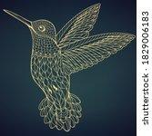 creative luxury bird design... | Shutterstock .eps vector #1829006183