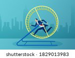 vector of a busy businessman... | Shutterstock .eps vector #1829013983