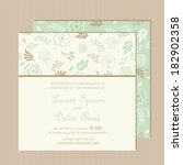 wedding invitation or... | Shutterstock .eps vector #182902358