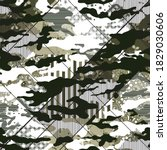 abstract camouflaged pattern on ... | Shutterstock .eps vector #1829030606
