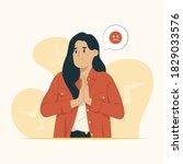 woman feeling sorry concept... | Shutterstock .eps vector #1829033576