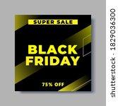 black friday social media post... | Shutterstock .eps vector #1829036300