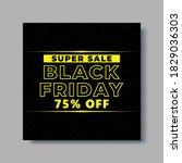 black friday social media post... | Shutterstock .eps vector #1829036303