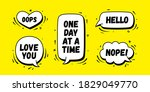 speech bubble. set of chat... | Shutterstock .eps vector #1829049770